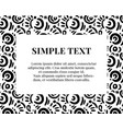 simple doodle art pattern with typography vector image