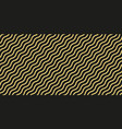 simple gold wavy line seamless pattern vector image vector image