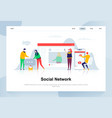 social network modern flat design concept vector image