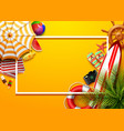 summer holidays blank background in the yellow vector image
