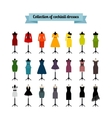 Summer or cocktail party dresses vector image vector image