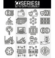 thin line design icons cryptocurrency vector image vector image