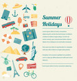 travel brochure travel and tourism concept vector image vector image
