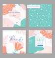 trendy abstract square art templates and seamless vector image vector image