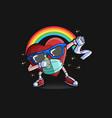 valentine icon symbol rainbow vector image vector image