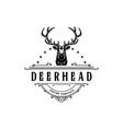 vintage style deer head logo hand vector image vector image