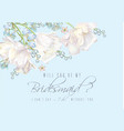 tulip bridesmaid card blue vector image