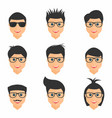 hairstyles set mens hairstyles in different form vector image