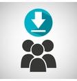 social media group download design vector image