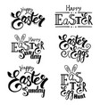 easter greeting lettering vector image