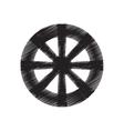 wheel tool antique round draw pictogram vector image