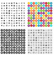 100 it business icons set variant vector image vector image