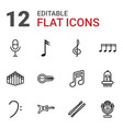 12 musical icons vector image vector image