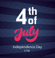 4th july retro poster template vector image vector image