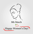 8th March womens day greetings vector image vector image