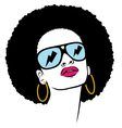 Afro with glasses thunder vector | Price: 3 Credits (USD $3)