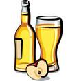 apple cider bottle vector image