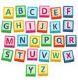 Baby Blocks vector image vector image