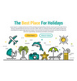 best holidays - rectangular site header vector image