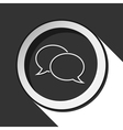 black and white round outline speech bubbles icon vector image vector image