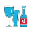 bottle of wine or other alcohol beverage vector image