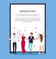 celebrating people confetti vector image vector image