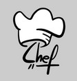 chef sticker vector image vector image