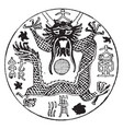 chinese coat of arms have chinese dragon is in vector image vector image