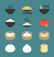 chinese cuisine dim sum vector image vector image