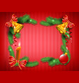 christmas frame from tradition elements vector image vector image