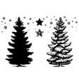 christmas tree set design template vector image