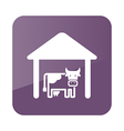 Cowshed icon Farm vector image vector image