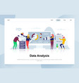 data analysis modern flat design concept vector image vector image