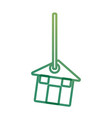 decorative pendant with house vector image