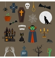 Dracula icons set vampire character design vector image