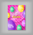 easter season sale card vector image