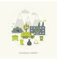 Ecologic concept in flat style vector image vector image