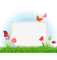 Empty white frame vector image