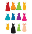 flat set of dress vector image