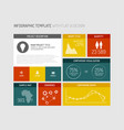 flat user interface infographic vector image