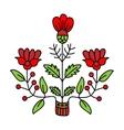 Floral decorative element vector image
