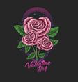 flower valentine day vector image