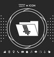 folder down arrow icon graphic elements for your vector image