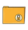 folder with padlock icon vector image vector image