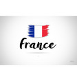 france country flag concept with grunge design vector image vector image
