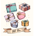 Gift Boxes Collection vector image