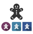 gingerbread man icon in different variants vector image
