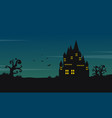 Halloween landscape with castle at night vector image