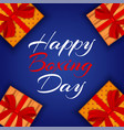 happy boxing day concept background realistic vector image vector image