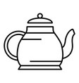 home teapot icon outline style vector image